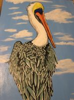 Large Pelican Painting by JadasArtVision