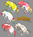 $5 Candycorn Adoptables! by moonspots