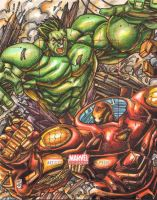 Hulk vs Ironman AP Marvel Universe 2014 by warpath28