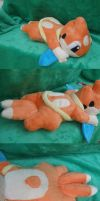 Floatzel Laying Plush by Glacdeas
