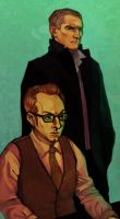 Mr Reese and Mr Finch by amytaluuri