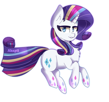 MLP| Rainbow power Rarity by AkapiiART