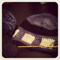 3rd Doctor Who Hat - wip by theyarnbunny