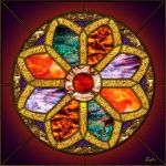 Stained-glass Rose Window by fmr0
