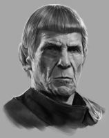 Leonard Nimoy as Spock by jaeon009