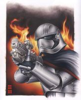 Captain Phasma - Commissioned Painting by Erik-Maell