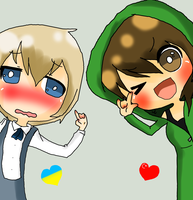 APH - Male!Ukraine X Fem!Turkey by ArabianGurl1
