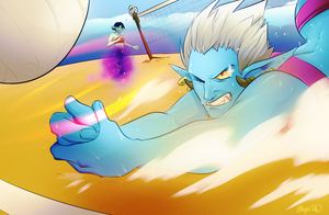 WoW: Volleyball Trolls by Bhryn