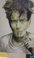 charlie sheen by mike-nesloney