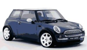 Mini Cooper Paint By Number Art Kit by numberedart