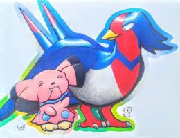 Swellow and Snubbull
