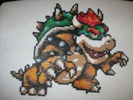 Perler Bowser Mario by rushtalion