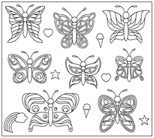 Butterfly Lineart by drachenlilly