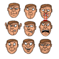 Doomguy Faces by CriticalHitSam