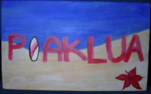 Poaklua Wooden Sign by AmiotBrat