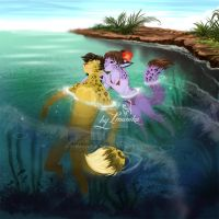 In the sea by Imanika