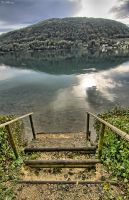 Stairway to water by CharlieMerci