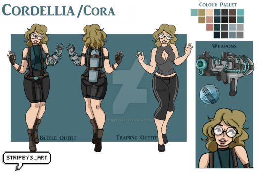 Cora, Reference Sheet by StripeysArt