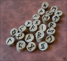 Birch Elder Futhark Rune Set by SalamenceClaws