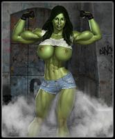 Don't mess with the She Hulk ... by darkhound1
