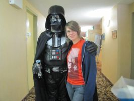 Me and Vader :D by michaela1232001