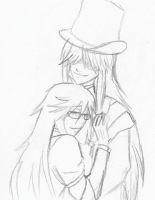 Undertaker and Grell by AnonymousSnarks