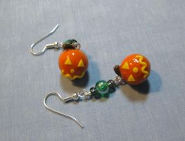 Jack O Lantern Earrings by kitcat4056