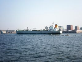 Boston Harbor Bulk-Carrier II by 3dmirror-stock