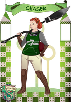 HA: Slytherin Quidditch Abigail Kane by hoshiko13