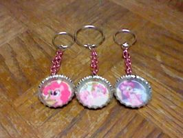 Pinkie Pie bottle cap keychains by lcponymerch