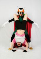 Great Saiyaman and Videl Cosplay by Oniakako