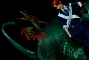 Hetalia: Scotland and Nessie by Rosenbraut