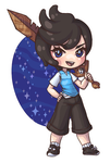 chibi commission 06 - Blue-Cup by Lady-Bullfinch