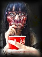 Iced tea zombie by TheEmptyKissOfDeath