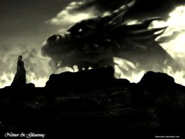 Nienor and Glaurung by cibervoldo
