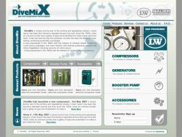 DiveMix - web site design by ramywafaa