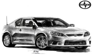 2013 Scion tC Coupe drawing by toyonda