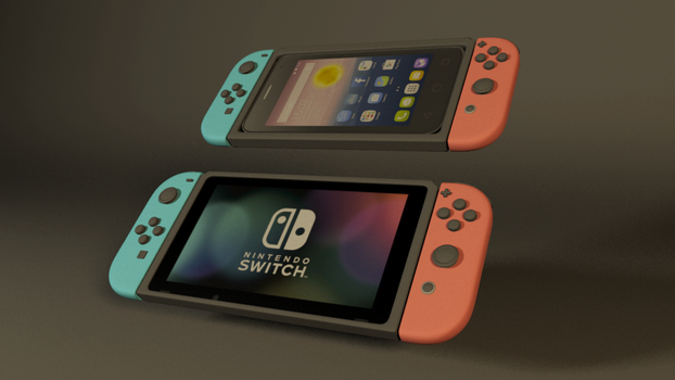 VRAY NINTENDO switch + cell phone case by GexANIMATOR