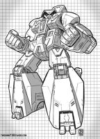 Transformer Straxus BW by timshinn73