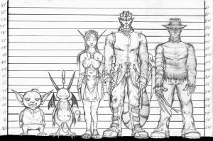 Character line-up by Pygmyink