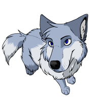 Sonne the blue wolf by DemonSnake