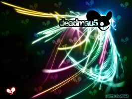 deadmau5 neon by metalcore69
