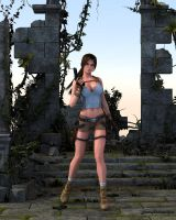 Lara in The Jungle Ruins by JpauCroft