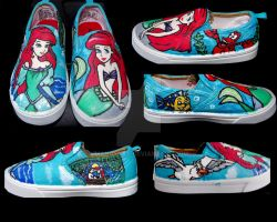 Ariel shoes for my daughter by mandykat