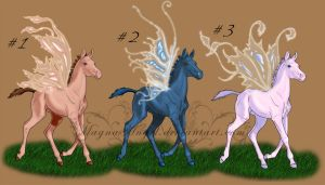 Adoptable Fairy Foals #1 by MagnaAngel