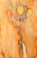 The baloons and the hand by nnicc