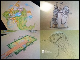 drawings from june by psdeluxe