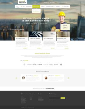 Electrical Residental Web Design by vasiligfx