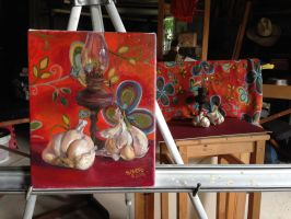 Painting and the still life by sandreezy