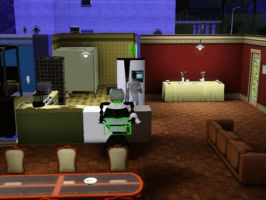 Sims 3 - Eugene is cooking macaroni and cheese by Magic-Kristina-KW